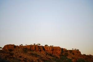The limestone bluffs of Shothole Canyon