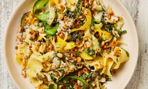 Yotam Ottolenghi's courgette pappardelle with feta and lemon.
