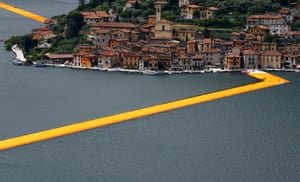 The Floating Piers on the Lake Iseo