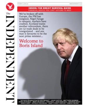 Independent Saturday 25th June 2016