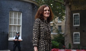 Theresa Villiers at Downing Street after being appointed environment secretary, 24 July 2019