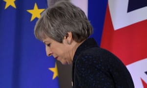 Theresa May in Brussels on the first day of an EU summit focused on Brexit