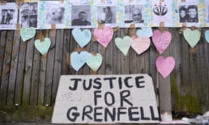 Homemade posters appealing for information on people missing since the Grenfell fire.