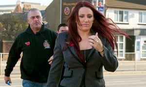 Jayda Fransen arriving at Luton magistrates court.