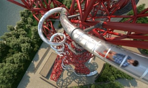 Twirl power … how the slide on Kapoor's Orbit tower will look.