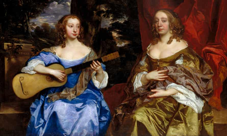 Detail from Sir Peter Lely's Two Ladies of the Lake Family (1660)