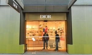 A luxury store is seen open in Sydney's CBD this week