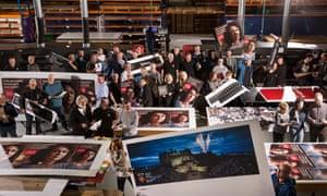 Novograf workers on the factory floor in East Kilbride, Scotland.