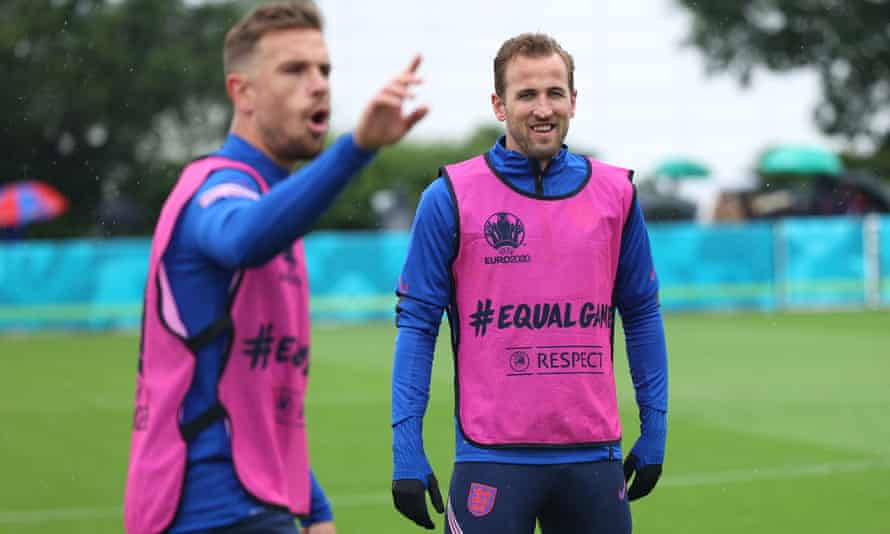 Harry Kane at an England training session on Monday.
