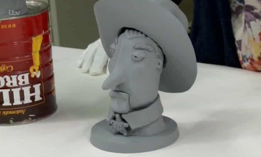 Prototype models of Woody from Toy Story.
