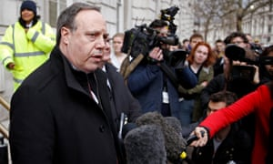 DUP deputy leader Nigel Dodds outside the Cabinet Office