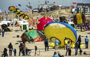 Kites of all different sizes and colours