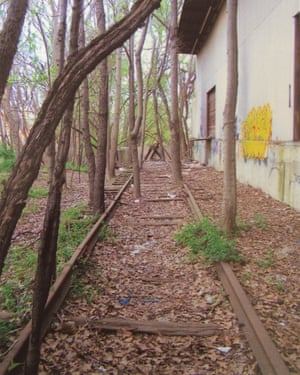 The Eastside Trail before the old rails were cleared and the trail built