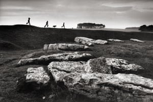Arbor Low prehistoric stone circle near Ashbourne, Derbyshire, 1976