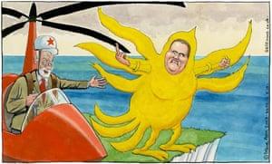Steve Bell 16.08.19 cartoon