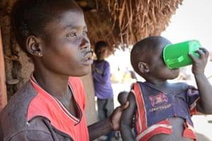 Mafero Lilian lost her husband in the war in South Sudan last year.