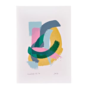 One-off pieces by University of the Arts London students and alumni Brushstrokes #1 A4 screenprint, £32.50, notjustashop.arts.ac.uk