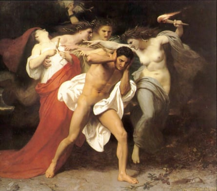 Charting the move from tyranny to democracy … The Remorse of Orestes (1862) by William-Adolphe Bouguereau