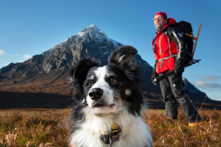 Tom Gilchrist with his Border collie search-and-rescue dog, Meagaidh.