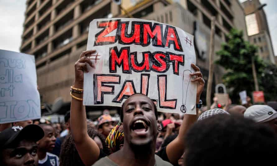 A 2015 student protest outside the ANC headquarters in Johannesburg