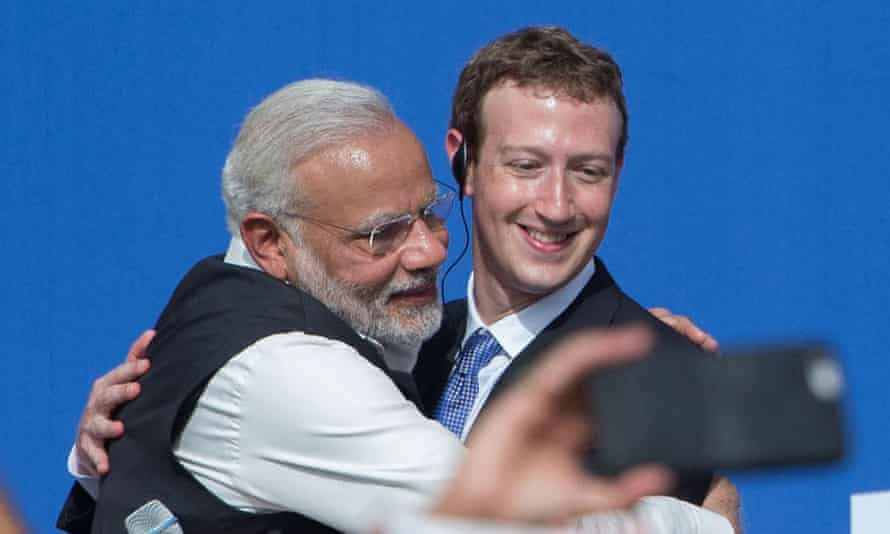Meeting at Facebook's HQ in September, Indian Prime Minister Narendra Modi told Facebook CEO Mark Zuckerberg that his dream was for India to become a $20tn economy, and that it 'needs both physical and digital infrastructure'