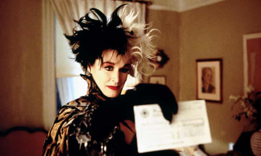 Glenn Close as Cruella de Vil in 101 Dalmatians, 1996. She became a regular client of Huntley's.