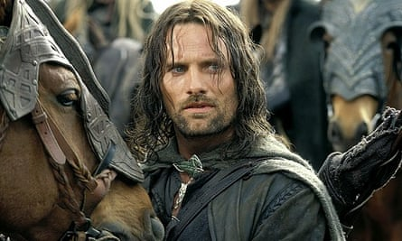 Aragorn, played by Viggo Mortensen. The original Lord of the Rings films were produced in New Zealand