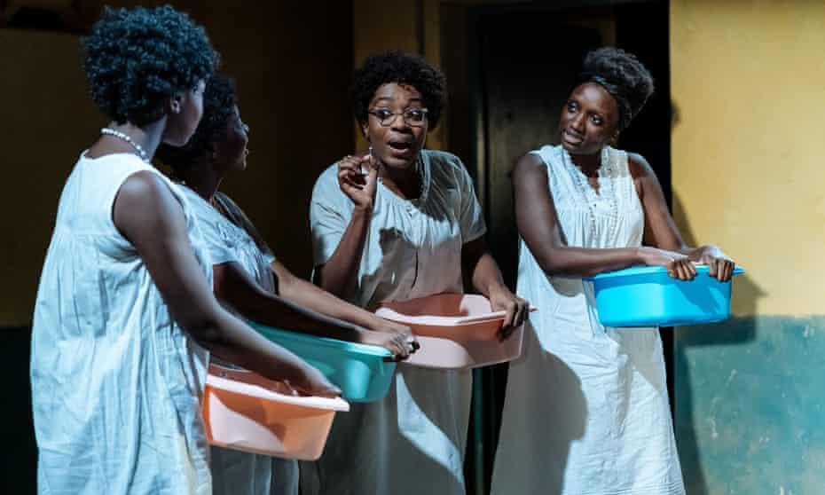 A complete world on stage ... Rima Nsubuga, Gabrielle Brooks, Yasmin Mwanza and Michaela Blackburn in Our Lady of Kibeho.