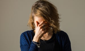 Young woman apparently depressed