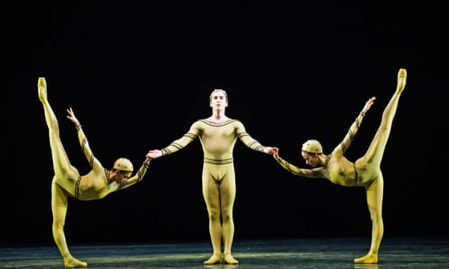 Movement that resonates into stillness and space … Yasmine Naghdi, Tristan Dyer and Emma Maguire in Monotones I.