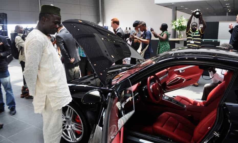 A Porsche dealership in Lagos.