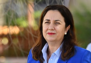 Queensland Premier Annastacia Palaszczuk Is seen during a press conference at the Australian Stockman's Hall of Fame in the western Queensland town of Longreach.