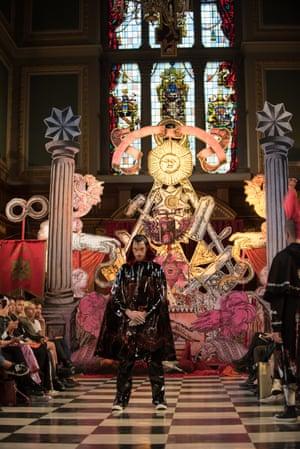Dilara Findikoglu's SS17 show at St Andrew's Holborn.