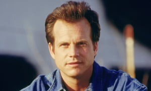 Bill Paxton as the intrepid storm chaser, Bill Harding, in Twister, 1996.