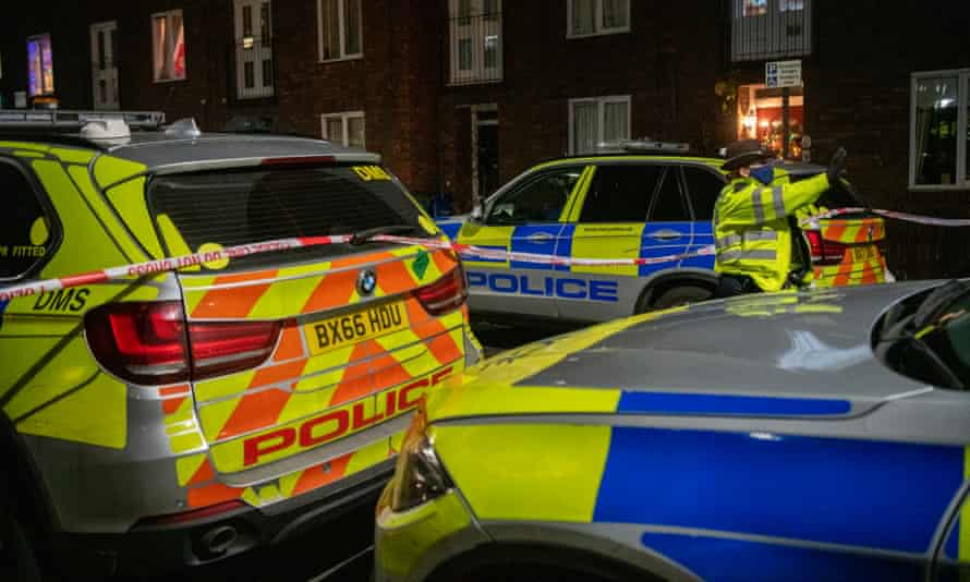 Police ended a brawl in Southall, west London between 40 men using knives, bottles and a sword.
