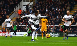 Ryan Sessegnon of Fulham scores a goal to make the score 1-0