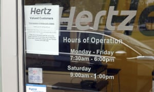 Hertz car rental company filed for bankruptcy protection in May.