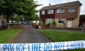 Police cordon in front of Tommy Mair's home in Birstall