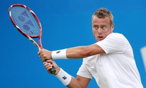 Lleyton Hewitt in action during the Aegon Championships.