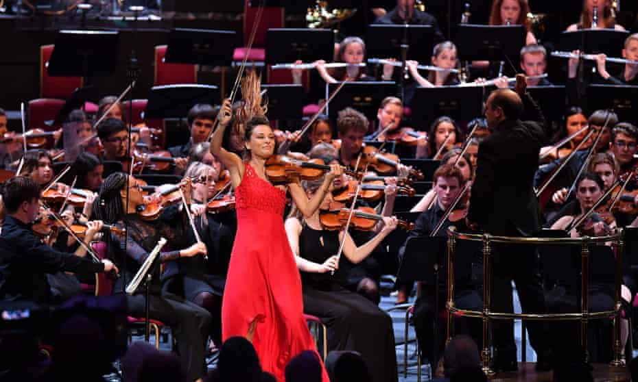 Nicola Benedetti with the National Youth Orchestra of Great Britain and conductor Mark Wigglesworth.