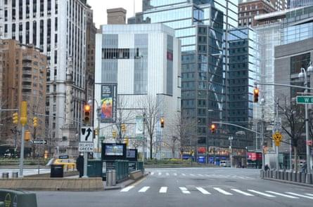 Columbus Circle 3.28.20, photo by Stephen Harmon