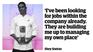 """Shey Soetan: """"I've been looking for jobs within the company already. They are building me up to managing my own place."""""""