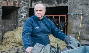 Wyn Evans is a sheep and cattle farmer based in Ceredigion, West Wales. His industry is set to be effected by Brexit. Here he poses in his farm in West Wales.