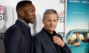 Mahershala Ali and Viggo Mortensen arrive at a Green Book gala screening in Hollywood.