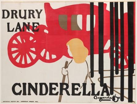 A Beggarstaffs poster advertising Cinderella at Drury Lane, 1895.