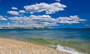 Beach near the city of Zadar.