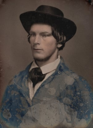 Unknown photographer. Portrait of Charles Edward Mitchell c.1851. Daguerreotype with applied colour