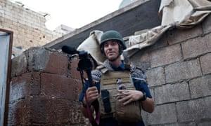 Vital work … journalist James Foley in Aleppo.