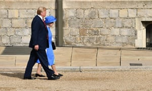 Donald Trump and the Queen.