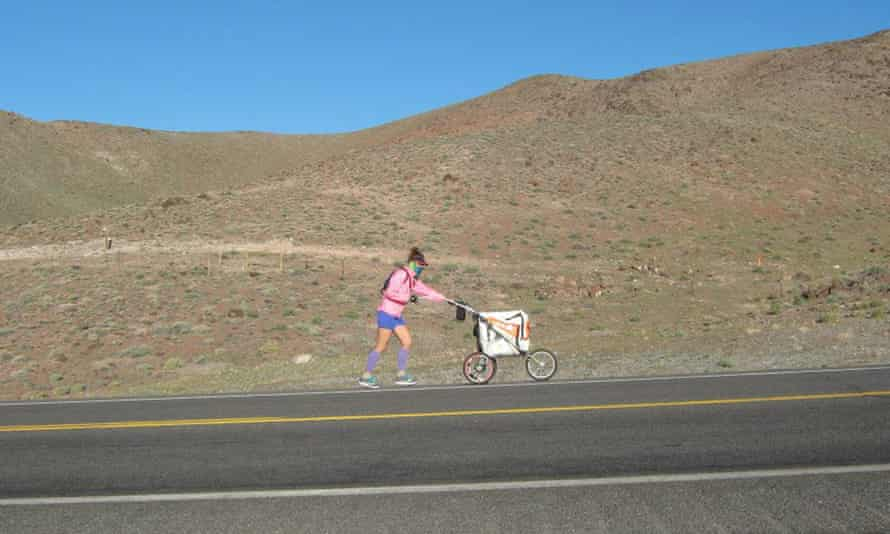 Jessica Goldman, who ran across the United States without a support team, built a buggy to hold her gear